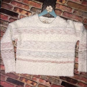 Hippie Rose Soft Ivory Combo Sweater M